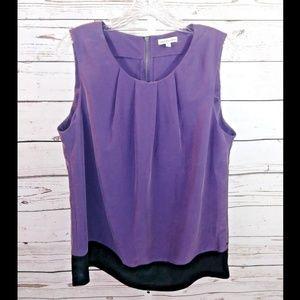 Calvin Klien Jeans sleeveless sueded blouse size L